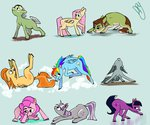 absurdres cloud drawerproyeah fluttershy granny_smith highres marble_pie original_character parents pinkie_pie rainbow_dash siblings spitfire twilight_sparkle twilight_velvet