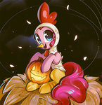 chicken costume highres mirroredsea pinkie_pie pumpkin