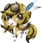feather goggles original_character tinuleaf