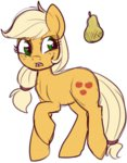 applejack lowres lulubellct pear transparent