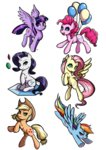 applejack fluttershy main_six pinkie_pie princess_twilight rainbow_dash rarity the-park twilight_sparkle