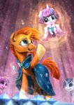 assasinmonkey baby cape glasses highres magic princess_cadance princess_flurry_heart shining_armor suburst