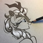 autumn_blaze emberslament highres kirin traditional_art