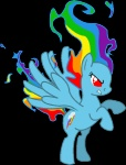 gryphyn-bloodheart on_fire rainbow_dash transparent