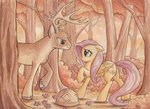 deer fluttershy forest original_character the-wizard-of-art
