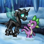 absurdres changeling gaelledragons highres spike thorax