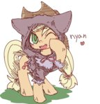 applejack cat costume fang japanese kolshica