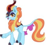 cloudyglow highres kirin sassy_saddles species_swap vector