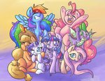 applejack fluttershy highres leadhooves main_six pinkie_pie princess_twilight rainbow_dash rarity spike twilight_sparkle
