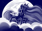 cloud dimfann highres moon nighttime princess_luna