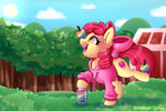absurdres apple_bloom apples clothes highres shyshyoctavia trees zap_apple_jam zap_apples