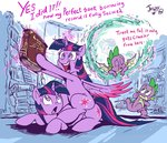 absurdres book highres jowybean princess_twilight spike twilight_sparkle