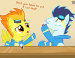 comic drunk on_fire soarin spitfire txlegionnaire wonderbolts