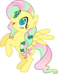 crystallized fluttershy kaylathehedgehog redesign transparent twinkle-eyed vector
