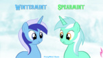 doublemint_gum lyra_heartstrings minuette parody snow willdrawforfood1 winter