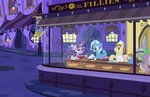 book canterlot edward_hopper highres magic nighthawks parody pixelkitties pony_joe spike the_great_and_powerful_trixie twilight_sparkle