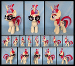 absurdres fireflytwinkletoes glasses highres moondancer photo plushie toy