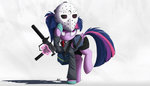 gun highres mask ncmares payday_2 princess_twilight suit twilight_sparkle weapon