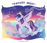 cloud nitlo princess_twilight sparkles stars tiara twilight_sparkle