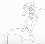 derpy_hooves dolphin dress humanized lineart xellikat