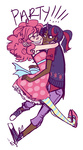 dress hugs humanized luzerna pinkie_pie twilight_sparkle