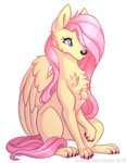 butterfly dog fluttershy highres scarlet-spectrum species_swap