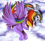cloud filly flying parents rainbow_dad rainbow_dash shivall