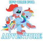 armor crossover rainbow_dash spiral_knights sword tabbykat weapon
