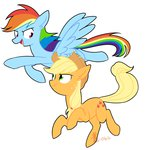 appledash applejack highres rainbow_dash shipping yaaaco