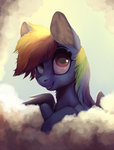 badday28 cloud rainbow_dash