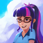ajvl equestria_girls glasses highres humanized twilight_sparkle