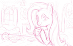 coffee fluttershy sketch sugarcubie
