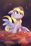 absurdres autumn derpy_hooves highres imalou leaves