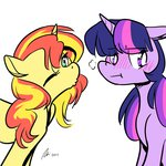 highres rwlart shipping sunlight sunset_shimmer twilight_sparkle
