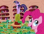 pinkie_pie snake twilight_sparkle