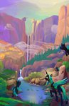 absurdres changeling highres queen_chrysalis scenery viwrastupr waterfall