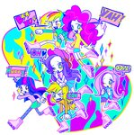 anime anime_as_fuck applejack area fluttershy humanized main_six pinkie_pie rainbow_dash rarity rollerskates twilight_sparkle