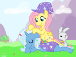 angel coggler flowers fluttershy the_great_and_powerful_trixie