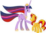 highres kaylathehedgehog princess princess_twilight sunset_shimmer transparent twilight_sparkle vector