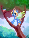 bird highres lilfunkman magic nest original_character tree