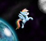 cgeta moon rainbow_dash space