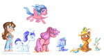 applejack_(g1) briannedrouhard cotton_candy_(g1) firefly g1 glory megan rabbit spike_(g1)