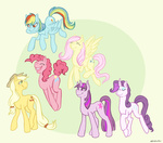 applejack dogribs fluttershy main_six pinkie_pie rainbow_dash rarity twilight_sparkle