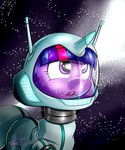 absurdres highres space space_suit stars thederpyenthusiast twilight_sparkle