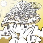 carrot flowers fluttershy hat highres mesperal