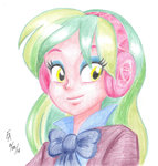 equestria_girls headphones lemon_zest mayorlight traditional_art