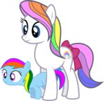 first_born g1 g3 generation_leap kaylathehedgehog rainbow_dash_(g3) young