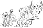 bipedal bird briskby cello filly i_shall_not_use_my_hooves_as_hands instrument lineart octavia_melody pet swan