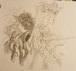 absurdres armor creeate97 highres princess_twilight shipping tempest_shadow traditional_art twilight_sparkle twizzlepop