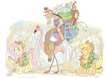 applejack backpack discord flamingo fluttershy jowybean plushie saddlebags smarty_pants toy